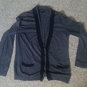 Grey and black cardigan